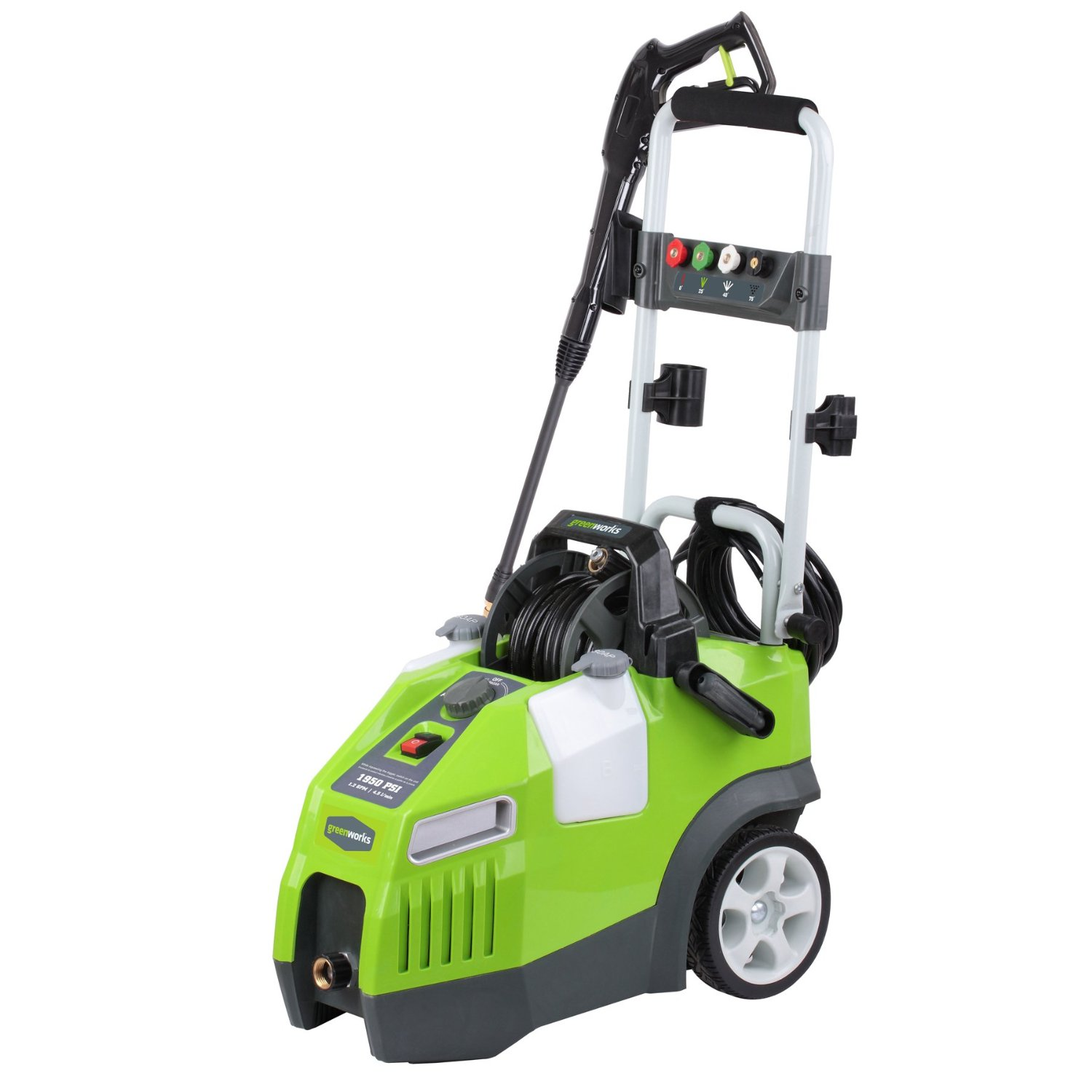 Review Greenworks Gw1950 1 950 Psi 1 2 Gpm Quiet Motor