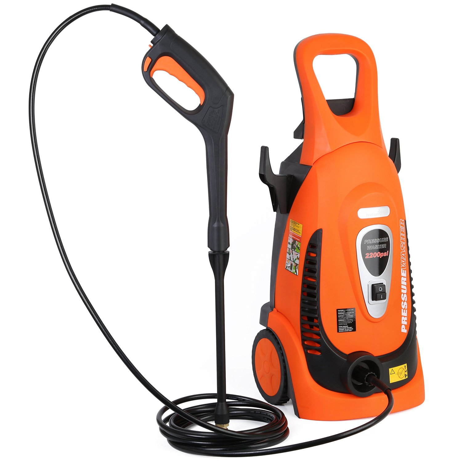 Review Ivation Electric Pressure Washer 2200 Psi 1 8 Gpm